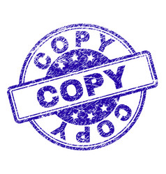 Scratched textured copy stamp seal vector