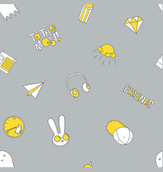 seamless pattern with food and drink vector image