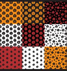 Seamless pattern with pumpkin vector