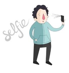 Selfie man photo color vector