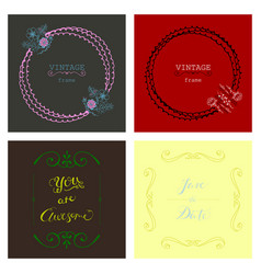 set of retro vintage badges and label logo vector image
