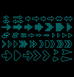 Set of silhouettes arrows vector