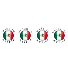 simple made in mexico spanish translation 3d vector image