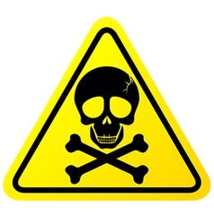 Skull danger sign vector image