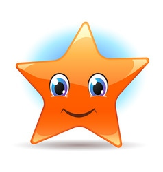 smiley star vector image