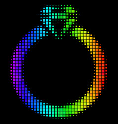 Spectral colored dotted ruby ring icon vector