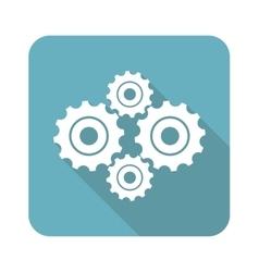 Square cogs icon vector