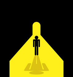 Stick figure standing in the tunnel vector