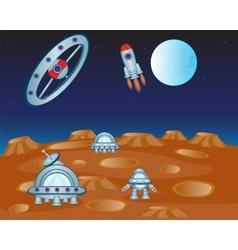 Study distant planet vector