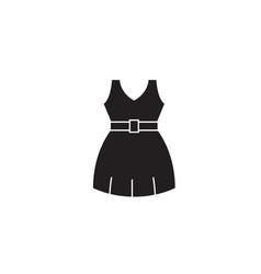 summer dress black concept icon summer vector image
