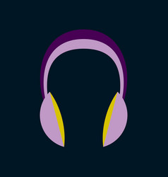 technology gadget in flat design headphones stereo vector image