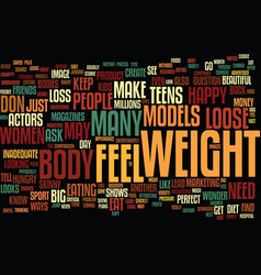 teens your body image text background word cloud vector image