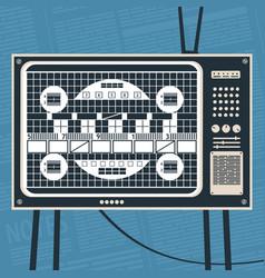 television no signal concept vector image
