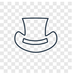 top hat concept linear icon isolated on vector image