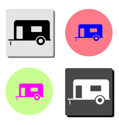 trailer house on wheels flat icon vector image