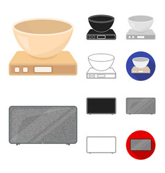types of household appliances cartoonblackflat vector image