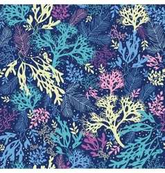 underwater seaweed seamless pattern background vector image