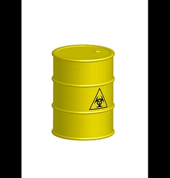 Vertical Biohazard yellow barrel vector image