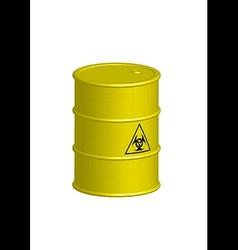 Vertical biohazard yellow barrel vector