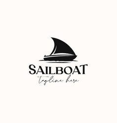 Vintage sailboat hipster logo template isolate vector