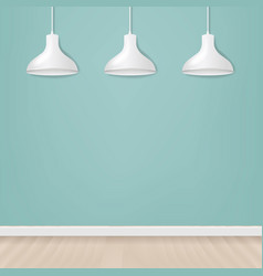 white hanging lamp isolated mint background vector image
