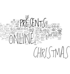 why not buy your christmas presents online text vector image