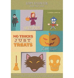With halloween and broom vector