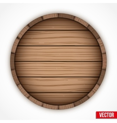 Wooden cask for alcohol drinks emblem vector image
