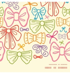 colorful bows horizontal frame seamless pattern vector image vector image