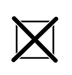 cross mark icon vector image