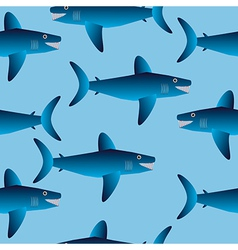 Shark seamless pattern vector image
