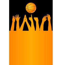 basketball card vector image vector image