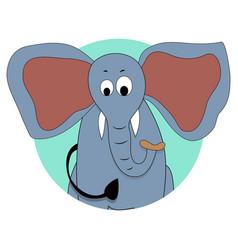 elephant icon avatar vector image vector image