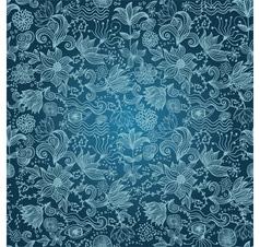 Floral Outlines Pattern vector image