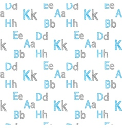 seamless pattern of English letters vector image