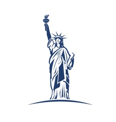Statue of Liberty image Concept of freedom vector image vector image