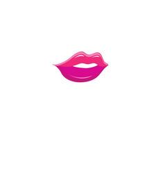 bright purple lips icon vector image