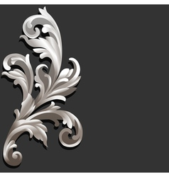 3d Floral vector image vector image