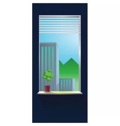 abstract blue wall interior vector image