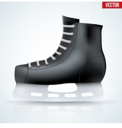Black classic hockey ice skates vector