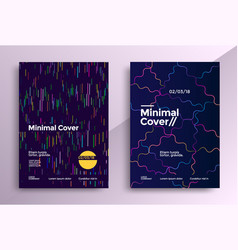 minimal covers design set vector image vector image
