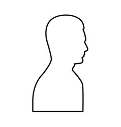 profile side view portrait black icon vector image