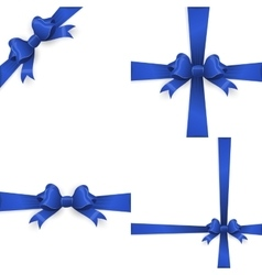 Ribbon with blue bow on a white background EPS 10 vector image vector image