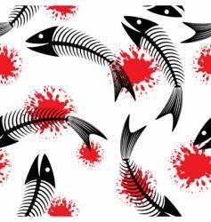 skeleton of fish fun vector image