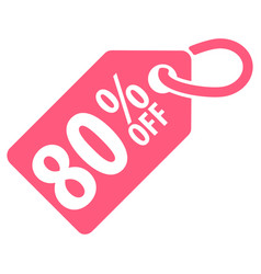 80 percent off tag vector image