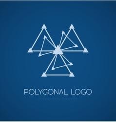 Abstract triangle connection concept icon logo vector