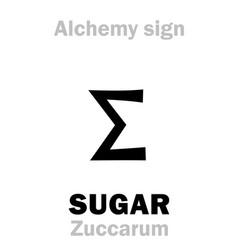 Alchemy sugar zuccarum vector