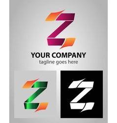Alphabet icon Z logo vector