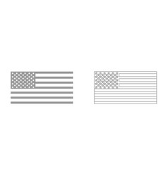 american flag it is icon vector image