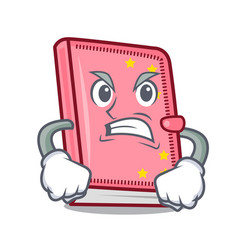 Angry diary mascot cartoon style vector
